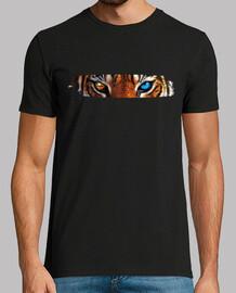 tigre africano Hombre, manga corta, negra, calidad extra