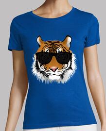 Tigre con gafas de sol