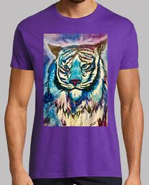 tigre cosmico Hombre, manga corta, morado, calidad extra