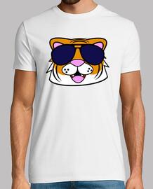 tigre de la cara del doodle