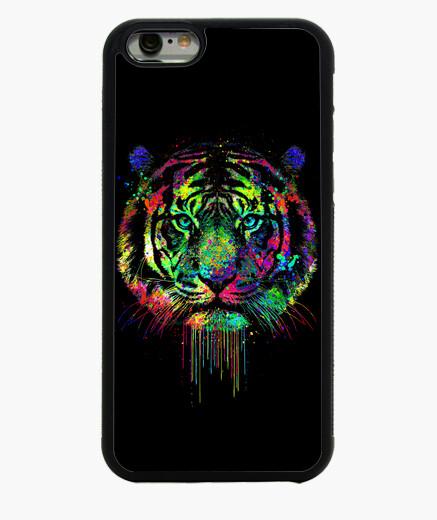 Coque Iphone 6 / 6S tigre dégoulinant coloré