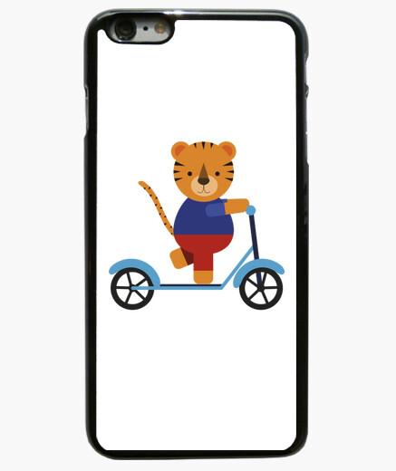 Funda iPhone 6 Plus / 6S Plus tigre en scooter