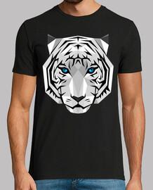 tigre géométrique blanc