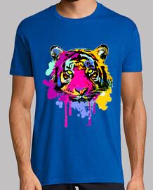 Tigre manchas de color