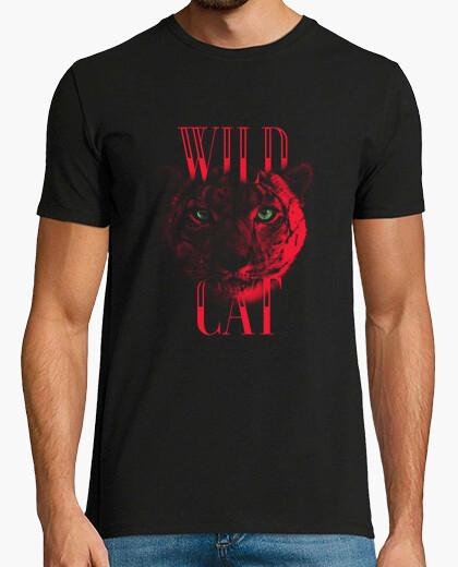 Tigre Rojo - Gato salvaje  Wild cat camiseta para los amantes de los tigres