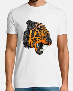 tigre rugido camiseta