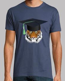tigre universitaria con mortarboard