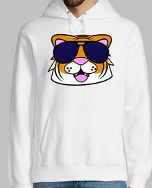 tigre visage doodle