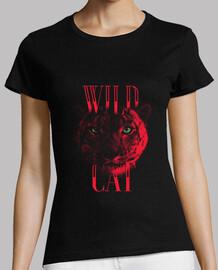 tigresse rouge - t-shirt de chat sauvage de chat sauvage