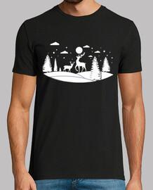 Timbre De Noël Cerf Montagne 4
