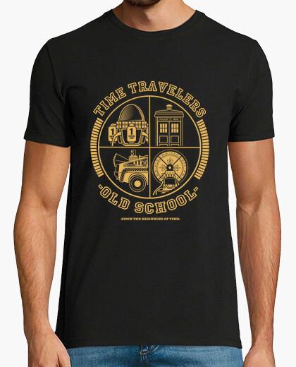 T-shirt time di viaggio di viaggio old school