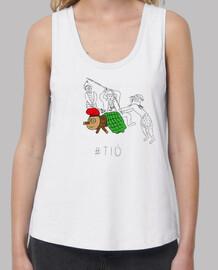 tio - samarreta noia, exemples amb tirants i loose fit (tailles des ailettes au xl s)