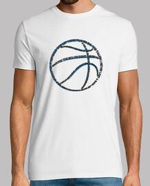 tipografía de baloncesto (hombre blanco)