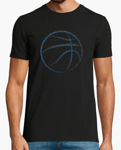 Camiseta tipografía de baloncesto (negro para hombre)