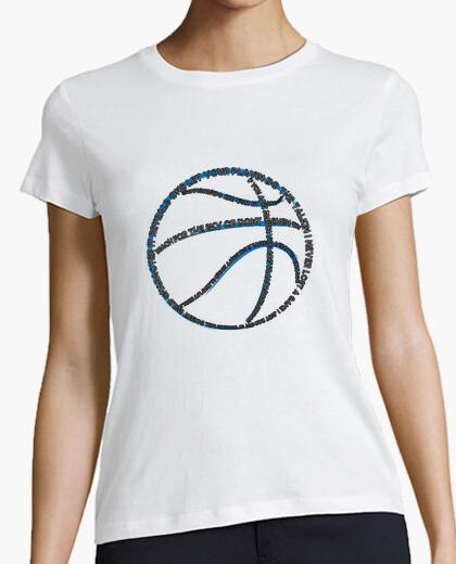 Camiseta tipografía de baloncesto (para mujer blanca)