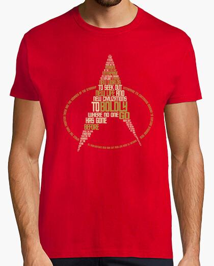 Camiseta tng tipografía (para hombre rojos)