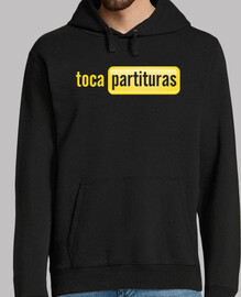 tocapartituras  sweat-shirt  à capuche  homme