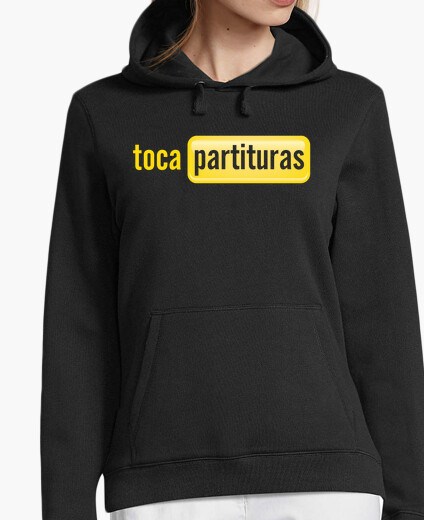 Tocapartituras hooded sweater girl hoody