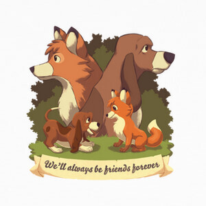 Camisetas Tod y Toby The Fox and The Hound