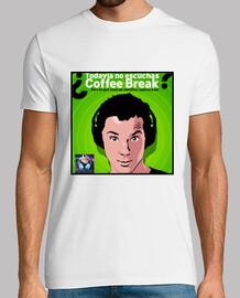¿Todavía no escuchas Coffee Break? Color blanco