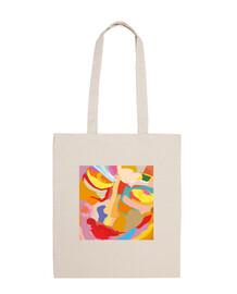 toile moderne 100% coton sac à bandoulière