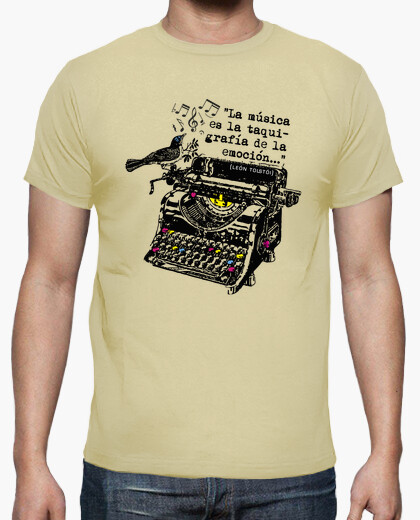 Shorthand Typewriter T-shirt for Men. Choice of Colours