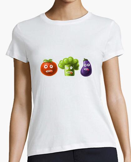 T-Shirt tomaten-brokkoli und auberginen lustige cartoon-gemüse