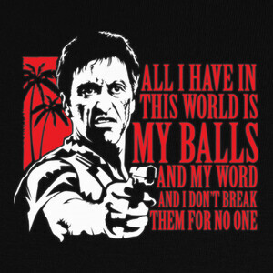Tony Montana (Scarface) (ENG) T-shirts