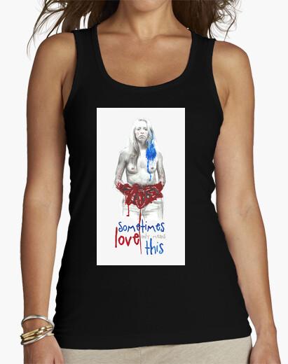 T-shirt Top donna, senza maniche, nero