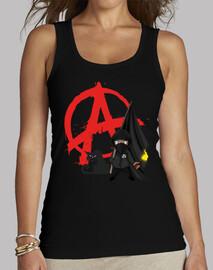 Top Femme - Anarchie Black Bloc Cat