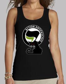 Top Femme - Cat Antifa Green