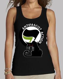 Top Femme - Cat Antifa International Green