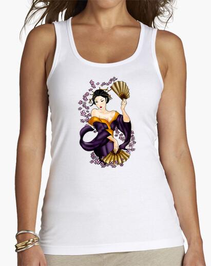 Tee-shirt top geisha