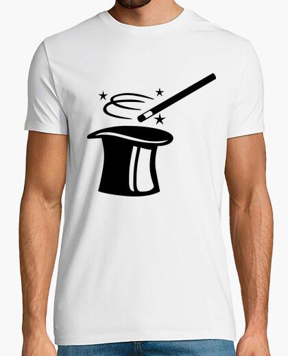 Tee-shirt top magicien chapeau bâton