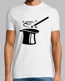 top magicien chapeau bâton