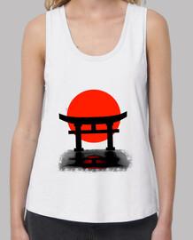 Tori Japan. Camiseta de tirantes anchos y Loose Fit.