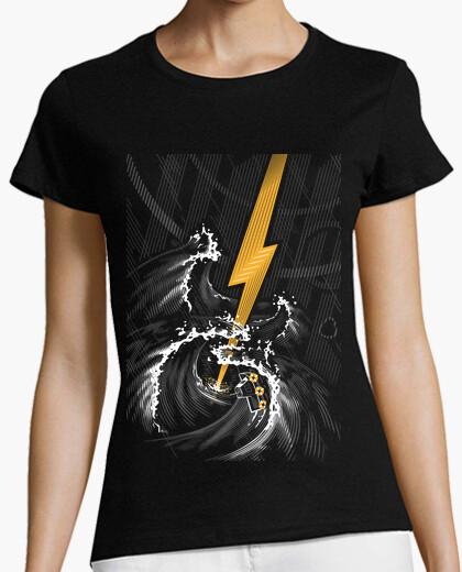 Camiseta tormenta de guitarra eléctrica
