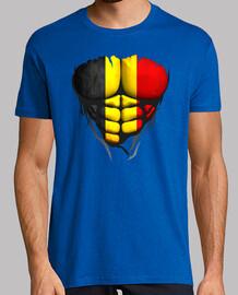 Torse corps muscle drapeau Belgique