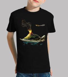tortue de mer vol can poisson avion