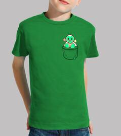 tortuga linda del bolsillo - camisa de los niños