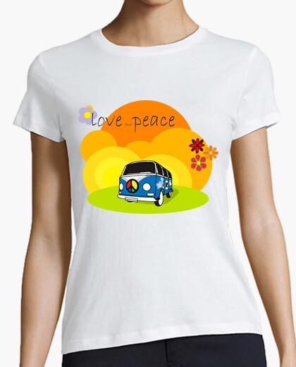 Camiseta Tostada VW Hippie v.01