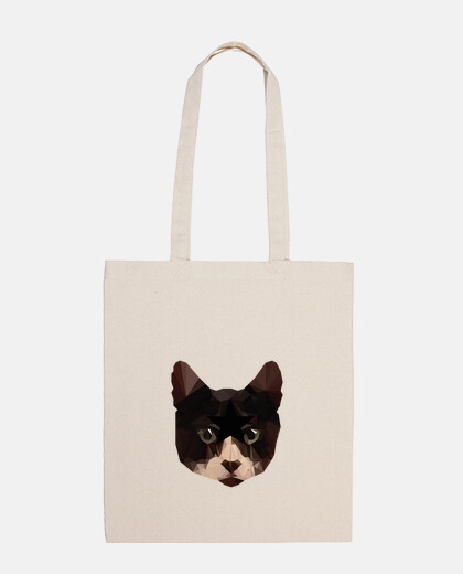 tote bag cat low poly