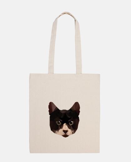 tote bag cat low poly