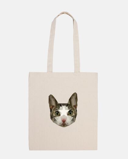 Tote Bag Gato Low Poly