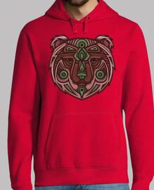 totem de oso tribal de cobre