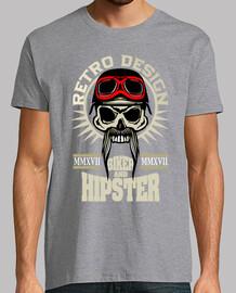 totenkopf hipster totenkopf bärtiger to