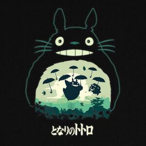 Camisetas Totoro And His Umbrellas