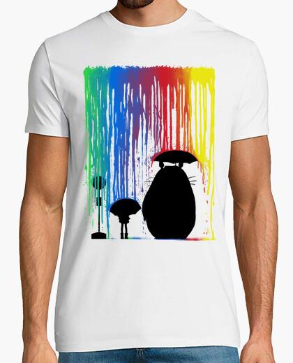 Camiseta totoro arco iris