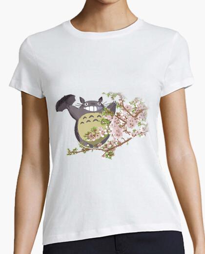 Tee-shirt Totoro et les fleurs