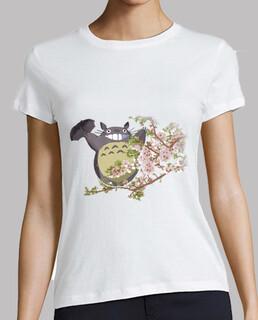 Totoro et les fleurs